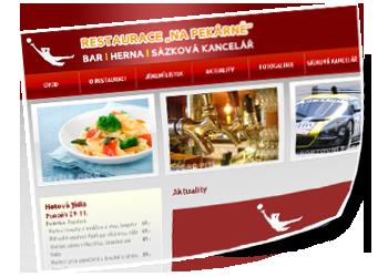 Internetové stránky restaurace NA PEKÁRNĚ - restaurace-napekarne.cz